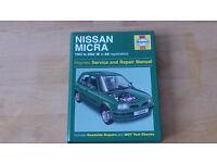 nissan micra workshop manual 1993-2002 (k to 52 reg)