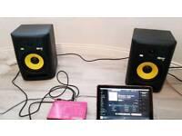 KRK Rokit 8 studio monitors!!