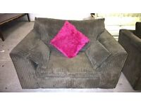 sofa suite cuddle chair & corner,Lovely with Deliuvery Possible