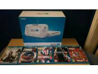 NINTENDO WII U CONSOLE 8GB WITH 5 GAMES (OPEN TO OFFERS)
