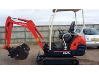 Kabota KX36-3 1.5 ton mini digger 2007 Lovely machine!