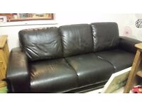 2 x brown leather 3 seater sofas for sale and MUCH more