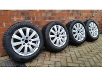 GENUINE VW Alloy Wheels complete with Hankook Winter Tyres