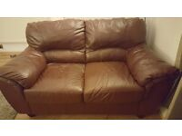 Three seater and two seater settees for sale, leather