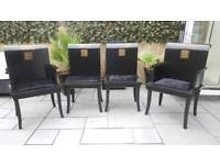Black Chinese style dining chairs