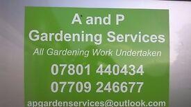 All garden and landscaping work undertaken