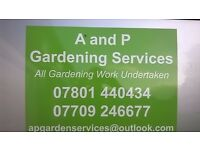 All garden and landscaping work undertaken