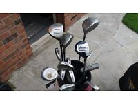 Wilson Full Womens Set Irons, Bag, Driver and woods putter