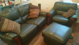 Sofa, foot stool, and free chair