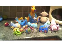 selection of baby toys