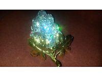 Swarovski Gold leaf Crystal Grapes / Owl
