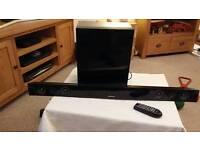 Samsung soundbar+Subwoofer/300watts/9months old..
