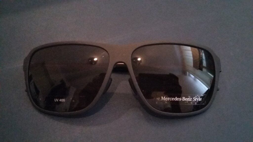 Mercedes Benz Sunglasses. NEWin Gravesend, KentGumtree - Mercedes Benz Sunglasses. New, Unworn, Genuine. Usually very expensive. Beautiful, slick and will look great with that Mercedes car owner! UV400 Bargain at £60 as no hard case Include extra £4.50 for postal delivery if required