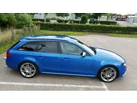Sprint Blue Pearl Audi S4 3.0 TFSI V6 quattro Avant 6 speed manual