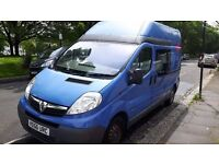 converted campervan Vauxhall Vivaro Hightop