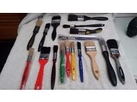 SMALL TO LARGE PAINT BRUSHES 1/2INCH TO 6INCH HARRIS B&Q DULUX AND SO ON