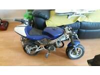 Blue mini moto