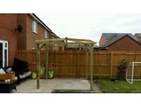 Garden wooden pergola 3m x 3m