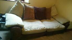 Two Seater Settee and Pouffe