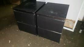 Pair of black ikea bedside tables