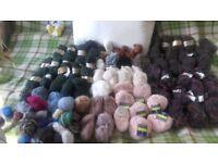 wollen knitting yarns job lot