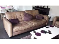 4 Seat Leather Couch for Sale (Plum)
