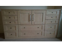 Wooden Dresser/Chest of drawers/Storage unit. Excellent condition, large, loads of space and sturdy