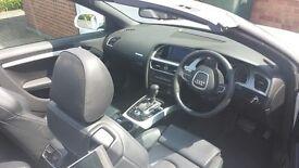 Audi A5 S Line,Convertiable,Tiptronic,Diesel, White 33600 miles £14900