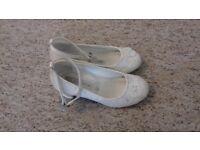 Child size 10 Flower Girl / Bridemaid Wedding Shoes