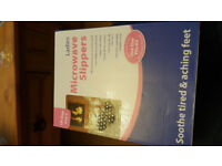 Ladies microwave slippers one size