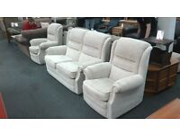 Fabric suite (2 seater Sofa with 2 Armchairs)