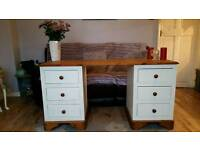 Shabby chic solid pine dressing table