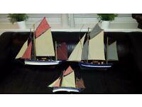 Wall hanging boats