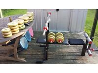 York 6600 Weightlifting Bench and Weights Kit