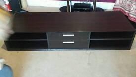 Dark brown floor unit