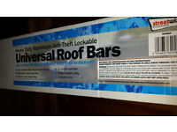 Streetwise heavy duty aluminium anti-theft lockable universal roof bars - 2 keys unused boxed