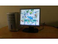 """Dell Inspiron Desktop PC Computer Slim Form & 17"""" Monitor"""