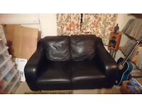 Black leather sofa for sale now