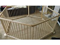 Foldable wooden baby play pen £20. Great condition. Rarely used. Comes with box.