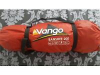Camping gear: tents, sleeping bags, roll mats, head torch, wash bag,