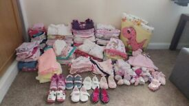 Huge bundle of girls clothes 0-6 mths!!! Over 200 pieces!!!