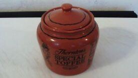 Thornton's Special Toffee - Brown - Storage Jar With Lid - IN ORIGINAL BOX.