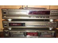 Technics CD Player, Tape Deck. Tuner