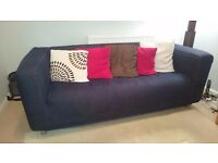 Ikea Klippan Sofa with denim cover