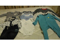 Boys baby clothes from first size up to 3 months. Excellent condition.