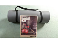 Men's Health Exercise Mat and Reebok Elements Gym Ball - 65cm