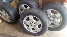 'LAND ROVER DISCOVERY 2 ALLOY WHEELS X 4'