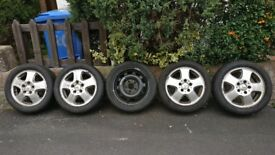 Tyres 195/50 R15 All Seasons Goodyear Vector4Seasons M+S plus Mercedes A-class rims