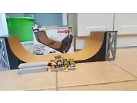 Tech Deck Half Pipe + Street Section + 4 Boards