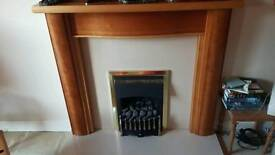 Wood / marble fire surround Inc gas fire